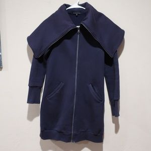 Curator SF Mock Neck Full Zip Sweater sz XS